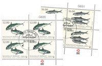 Fisk i Norden - Dagstemplet - 4-blok øvre marginal