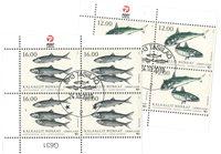 Fisk i Norden - Dagstemplet - 4-blok nedre marginal