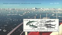 Fish in Nordic waters - Date cancellation - Souvenir sheet
