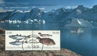 Fish in Greenland II - Date cancellation - Souvenir sheet