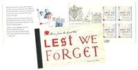 Guernsey - WWI / Lest We Forget PBK - Postfrisk prestigehæfte