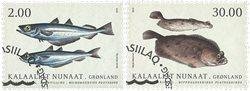 Fisk i Grønland II - Førstedagsstemplet - Sæt