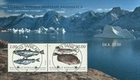 Fish in Greenland II - Central date cancellation - Souvenir sheet