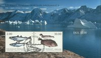 Fish in Greenland II - First day cancellation - Souvenir sheet