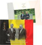Belgique - Accession au trône - Bloc-feuillet oblitéré en présentation