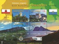 San Marino - Fællesudgave - Stemplet miniark