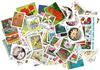Flowers - 250 different stamps