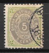 Antilles danoises  - AFA 10By - Oblitéré