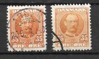 Danmark  - AFA 63 + 63a - Stemplet