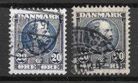 Danmark  - AFA 48 + 48a - Stemplet