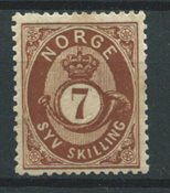 Norvège 1872 - AFA 21 - Neuf avec charnières