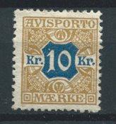 Danemark 1907 - Avisp. 10 - Neuf avec charnières