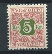 Danemark 1907 - Avisp. 9 - Neuf avec charnières