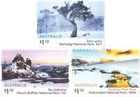 Australia - Alpes australianos - Serie 3v. adh nuevo