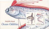 Norfolk Island - Fisk - Postfrisk miniark