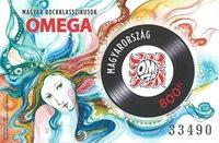 Ungarn - Rock Omega - Postfrisk miniark