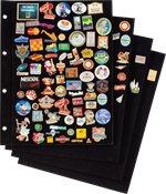 Prikborden voor Pins album, Zwart velours, pak  van 4
