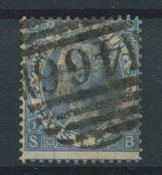 Grande Bretagne 1867 - AFA 34 - Oblitéré
