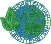 Liechtenstein - Embroidered stamp from recycled plastic from the ocean - Mint stamp