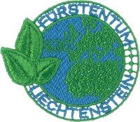 Liechtenstein - Timbre brodé fait à partir de déchets plastiques des océans - Timbre brodé neuf
