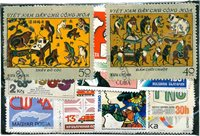 Design - 100 forskellige frimærker