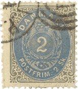 Danmark 1871 - AFA 16a - Stemplet
