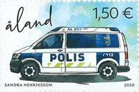 Åland - Ålands politi - Postfrisk frimærke