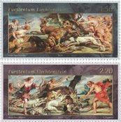 Liechtenstein - Rubens: Jagtscener - Postfrisk sæt 2v