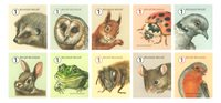 Belgium - Animals in garden - Mint sheetlet