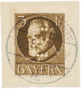 Tyskland stater 1915 - Michel D12 - Stemplet
