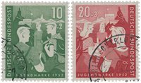 Republique Fédéraled'Allemagne 1952 - Michel 153-154 - Oblitéré