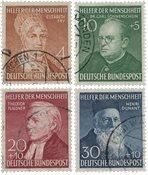 Republique Fédéraled'Allemagne 1952 - Michel 156-159 - Oblitéré