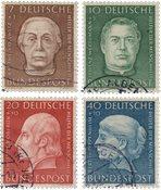 Republique Fédéraled'Allemagne 1954 - Michel 200-203 - Oblitéré