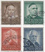 Tyskland 1953 - Michel 173-176 / AFA 1136-1139 - Stemplet