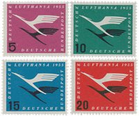 Tyskland 1955 - Michel 205-208 / AFA 1168-1171 - Postfrisk