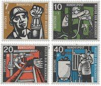 Tyskland 1957 - Michel 270-273 / AFA 1233-1236 - Postfrisk
