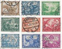 Empire Allemand - 1933 -  Michel 499/507 - Oblitéré