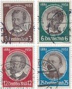 Tyske Rige - 1934 - Michel 540/543 - Stemplet