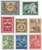 German Empire 1943 -  MICHEL 828/830, 843, 850/853  - Mint