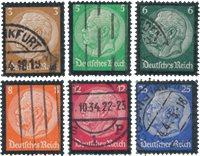 Empire Allemand - 1934 - Michel 548/553, oblitéré
