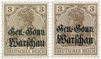 Occupation allemande 1916 - Michel 7a+7b - Neuf