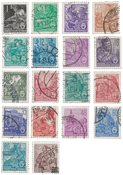 République Démocratique Allemande 1953 - Michel 405-422 - Oblitéré