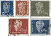 République Démocratique Allemande 1950 - Michel 251-255 - Oblitéré