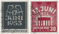 Berlin 1953 - MICHEL 110-111 - Cancelled