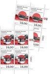 EUROPA - Gamle postale ruter - Postfrisk - 4-blok nedre marginal