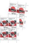 EUROPA - Gamle postale ruter - Førstedagsstemplet - 4-blok nedre marginal