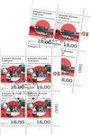 EUROPA - Gamle postale ruter - Dagstemplet - 4-blok nedre marginal