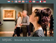 Sepac 2020: Artwork in the National Collection - Førstedagsstemplet - Souvenirmappe