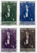 Liechtenstein 1956 - Michel  348-351 - Oblitéré