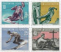 Liechtenstein 1955 - Michel  334-337 - Oblitéré
